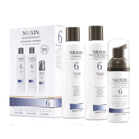 Nioxin - Kit 6 : Cheveux Clairsemés Épais Traités Chimiquement - Coffrets Cadeau Pour Les Cheveux